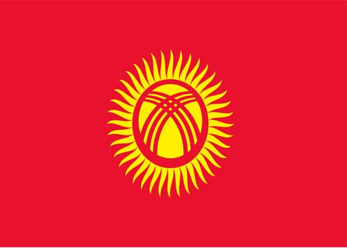 waf Kyrgyzstan flag