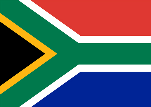 south africa flag waf